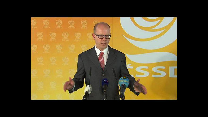 Video Bohuslav Sobotka na tiskové konferenci
