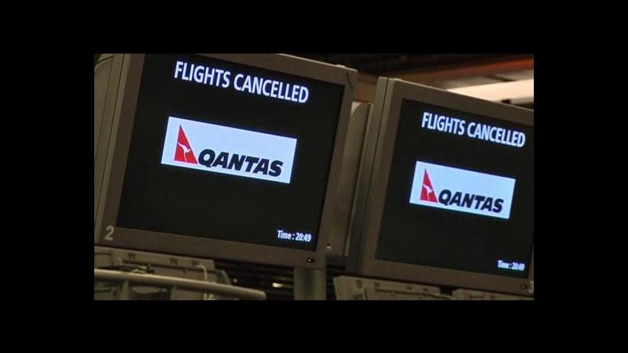 Video Aerolinky Qantas částečně obnovily provoz