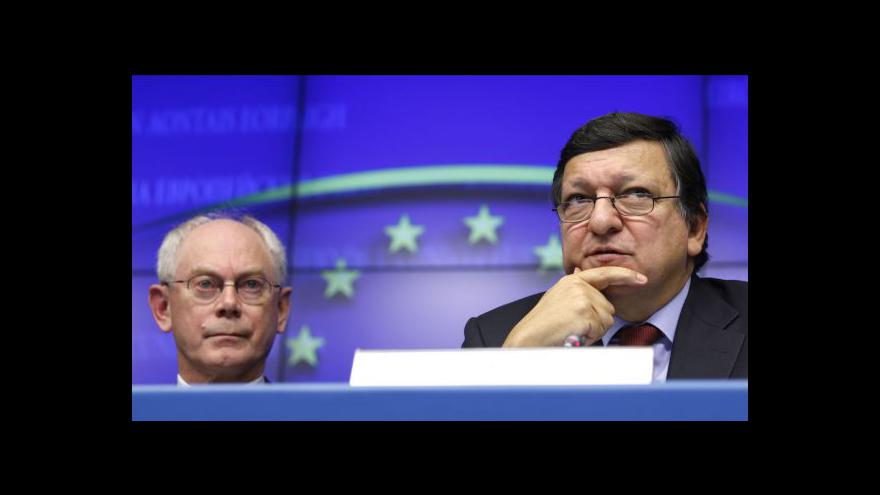 Video Reakce Josého Barrosa a Hermana Van Rompuye