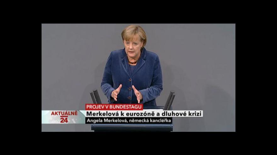 Video Projev Angely Merkelové v Bundestagu