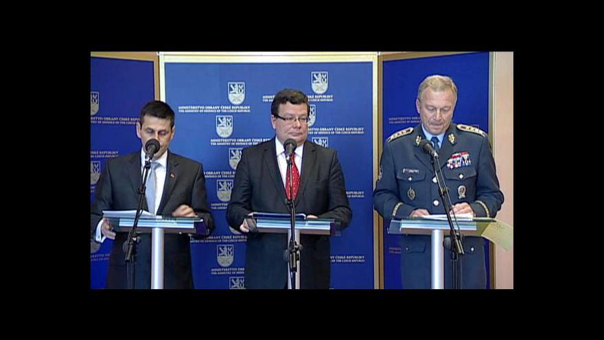Video Brífink ministerstva obrany