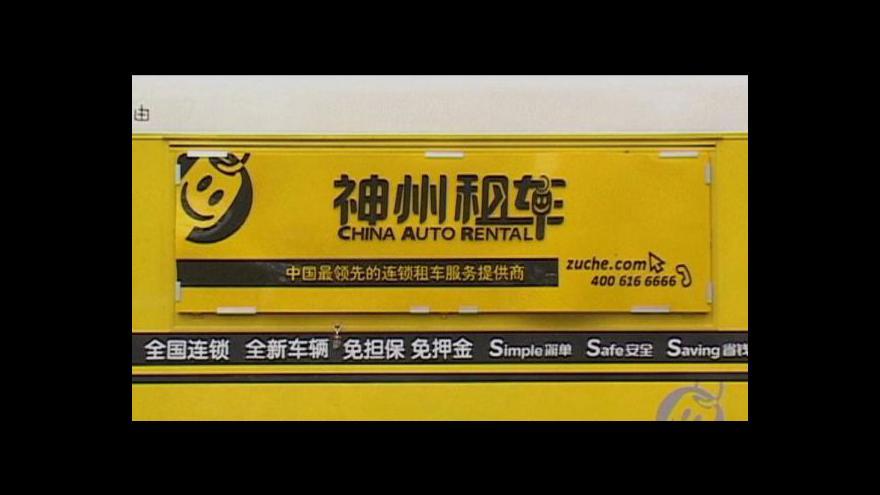 Video Boom autopůjčoven v Pekingu