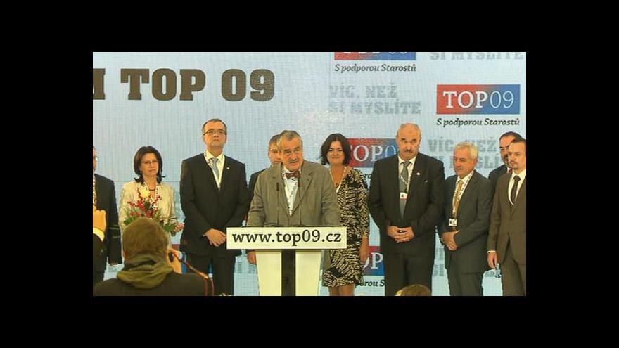 Video Závěrečné projevy na sněmu TOP 09