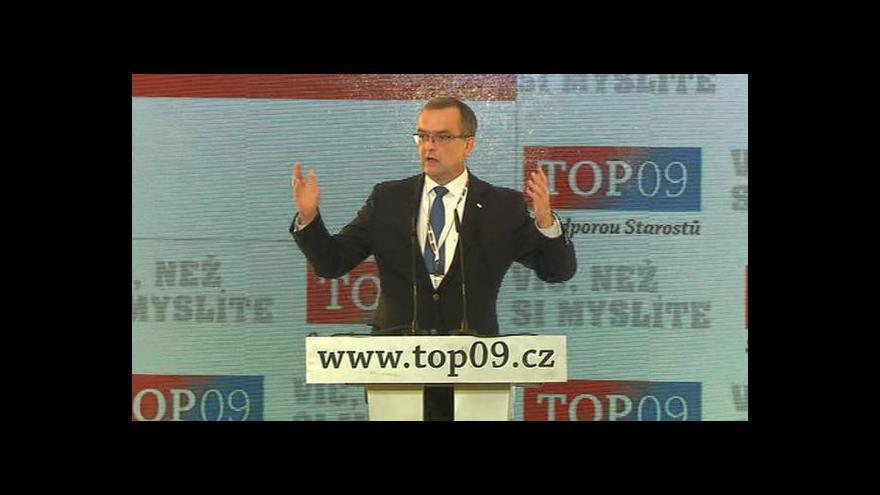 Video Projev Miroslava Kalouska o konkurenceschopnosti