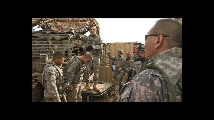 Video Američtí vojáci odejdou do konce roku z Iráku