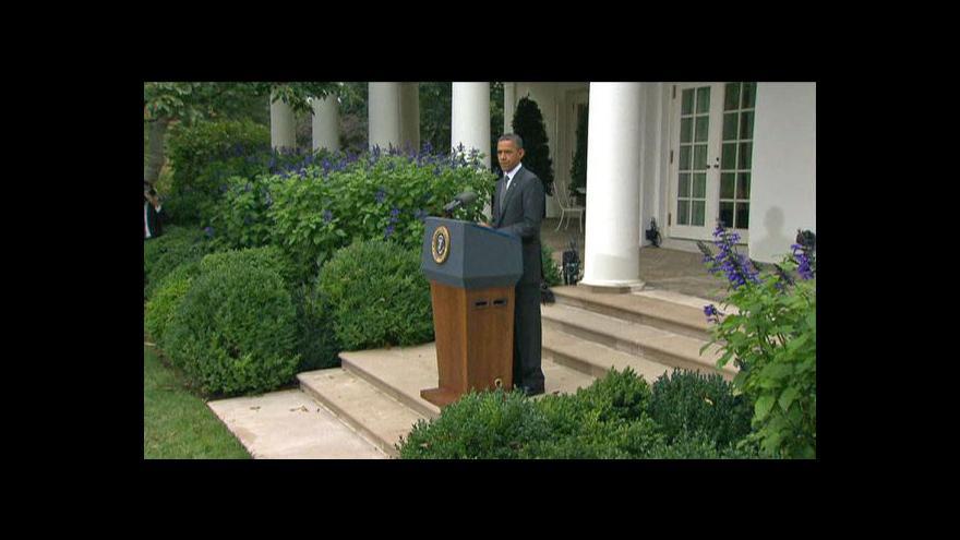 Video Projev Baracka Obamy ke smrti Kaddáfího