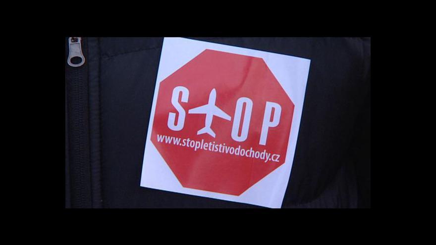Video Protest proti letišti Vodochody