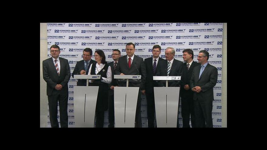 Video Brífink po kongresu ODS v Praze