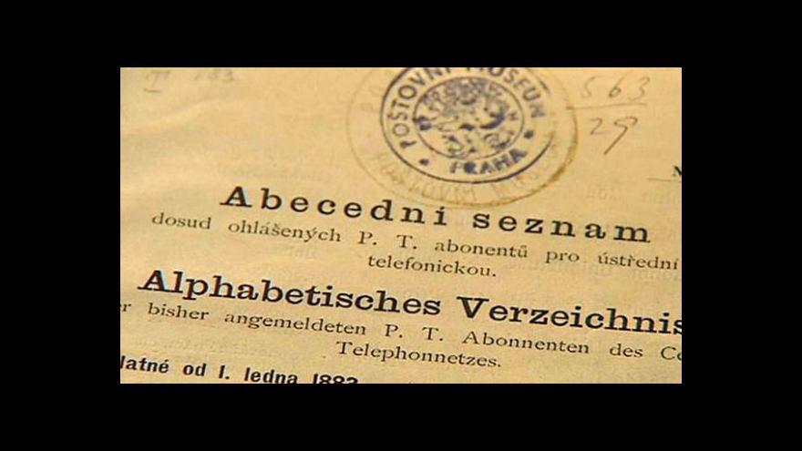 Video První telefony v Praze