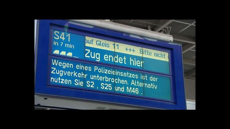 Video Žhářské útoky na německou železnici