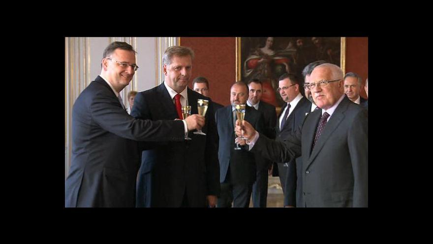 Video Jmenování Petra Bendla ministrem