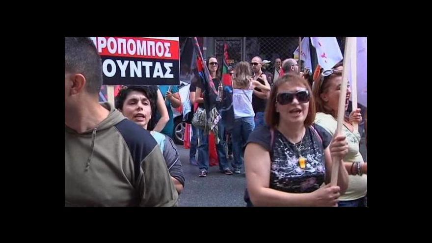 Video Řecko znovu ve stávce