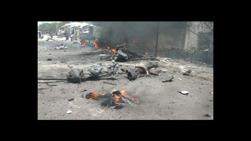 Video Teroristé v Mogadišu zabili přes 60 lidí