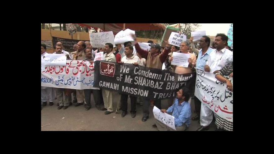 Video Za zabití pakistánského guvernéra čeká policistu poprava