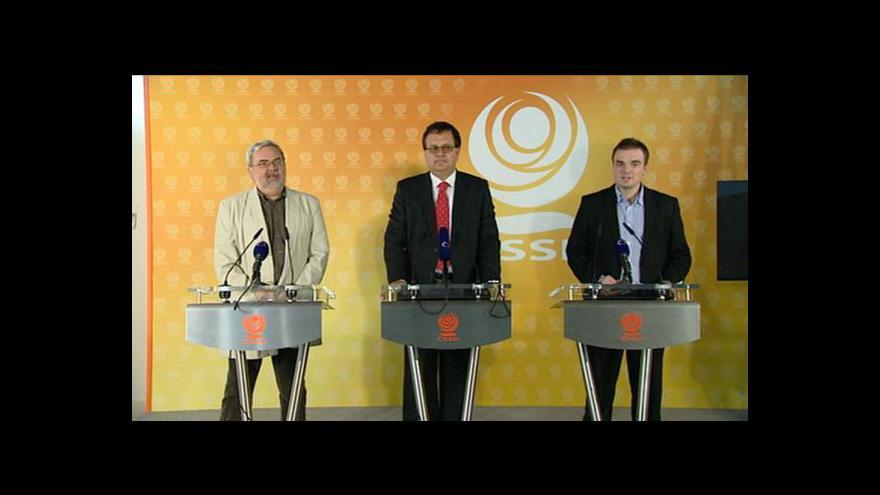 Video Tisková konference ČSSD k transakční dani