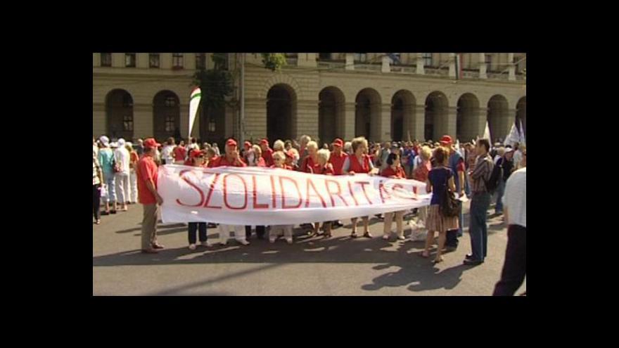 Video Maďarské protesty