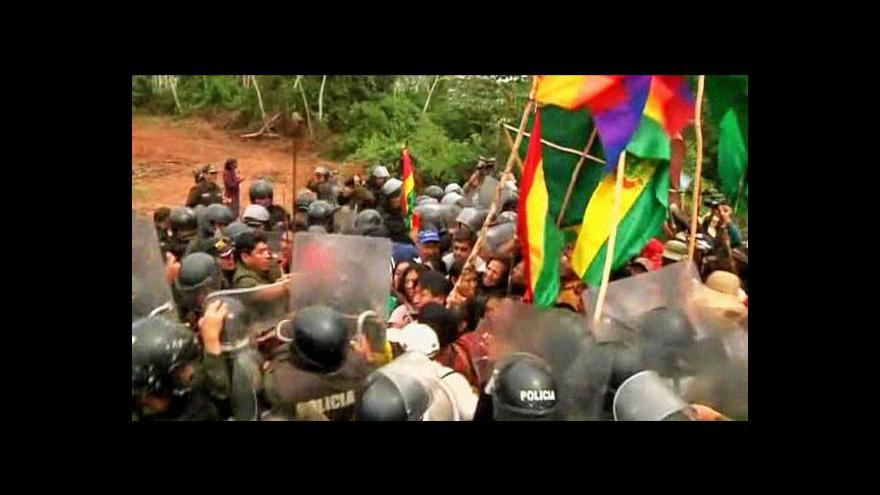 Video Bolívie kvůli protestům zatím upouští od dálnice
