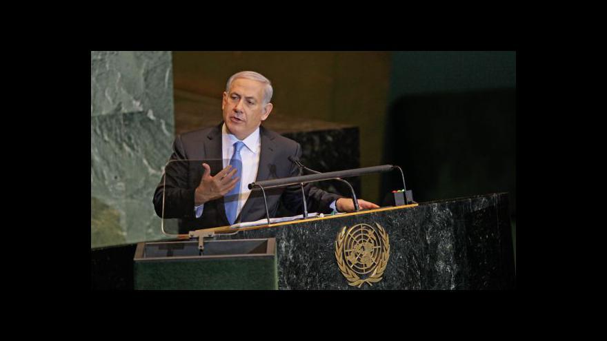 Video Projev Benjamina Netanjahua v OSN
