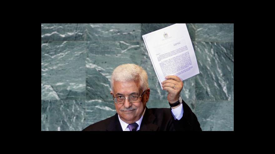 Video Palestina požádala o členství v OSN