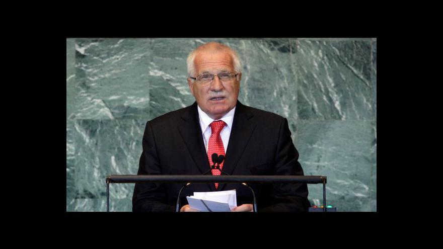 Video Projev Václava Klause v OSN