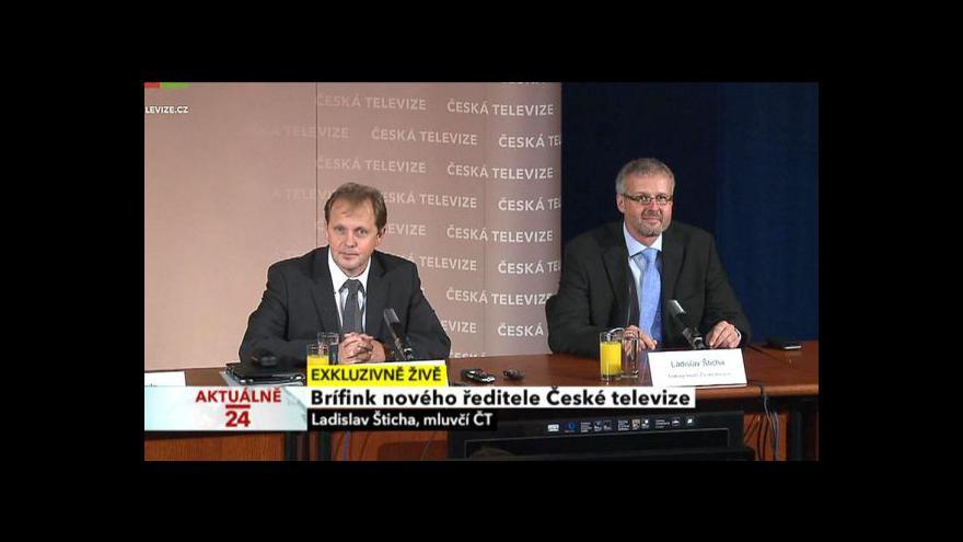 Video Brífink po zvolení nového generálního ředitele ČT Petra Dvořáka