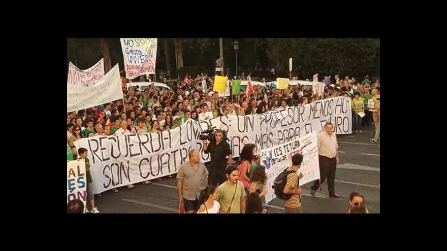 Video Stávka španělských učitelů