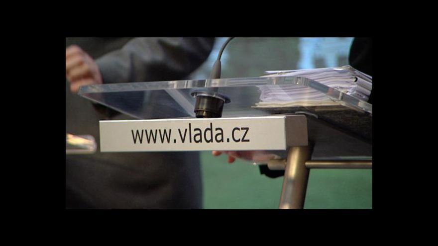 Video Brífink po jednání vlády o rozpočtu