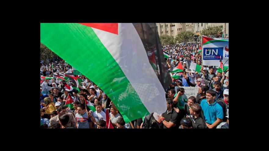 Video Tisíce Palestinců demonstrují za členství v OSN