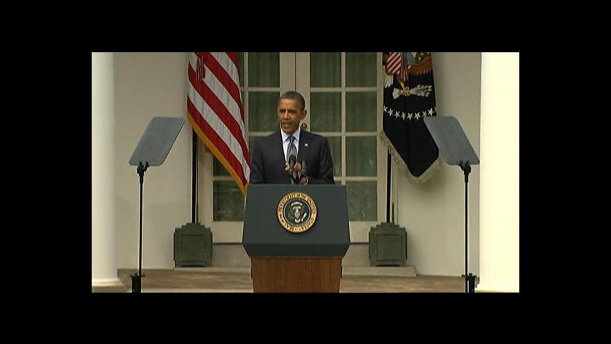 Video Obama představuje svůj plán úspor