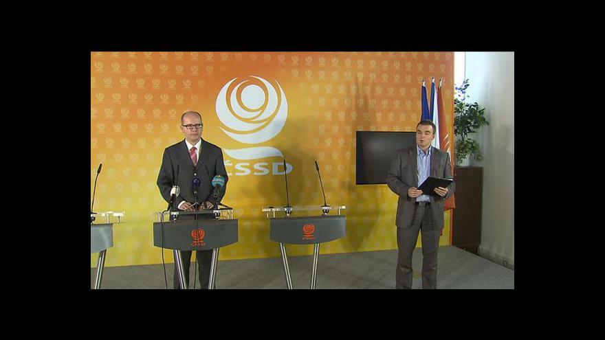 Video Brífink Bohuslava Sobotky o situaci na Šluknovsku
