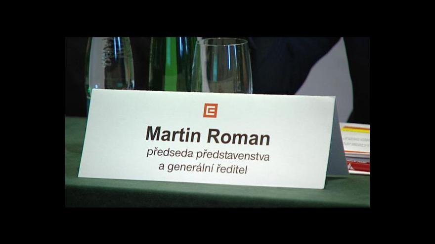 Video ČEZ bude mít nového šéfa, Martin Roman končí