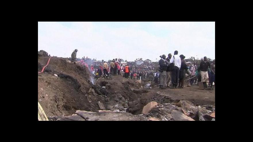 Video Výbuch ropovodu v Keni
