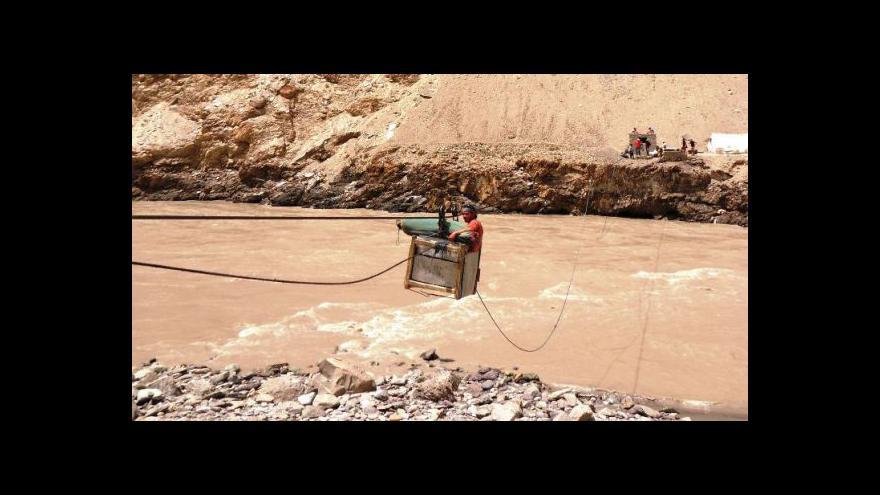 """Video """"Přívoz"""" přes řeku Zanskar (záběry Jana Lehečky 2011)"""