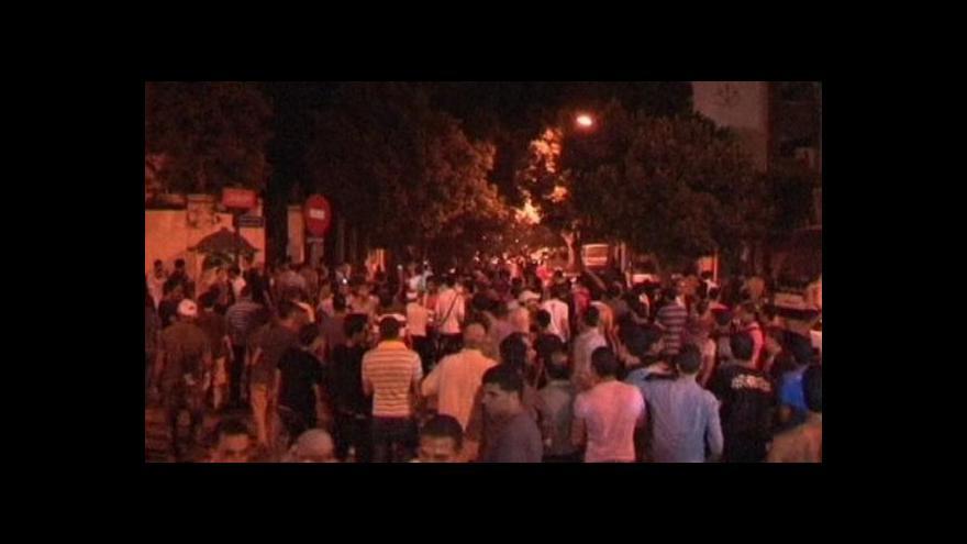 Video Protiizraelská demonstrace v Káhiře