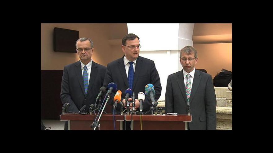 Video Tisková konference koalice ke schváleným reformám