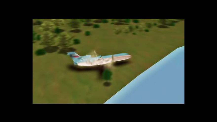Video Animace pádu letadla Jak-42