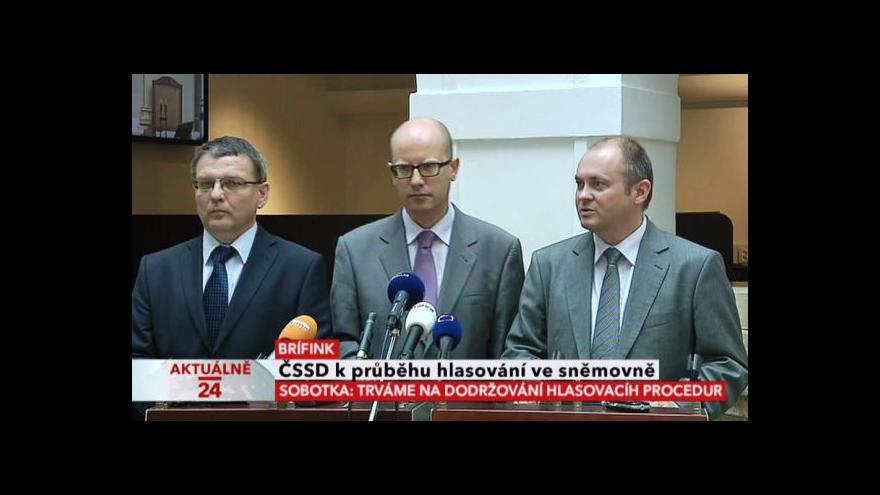 Video Brífink ČSSD kvůli postupu Jany Drastichové při hlasování