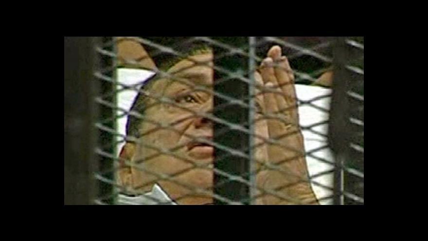 Video Studio ČT24 o procesu s Mubarakem