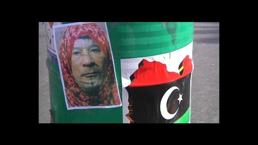 Video Kaddáfí chce zahájit povstaleckou válku