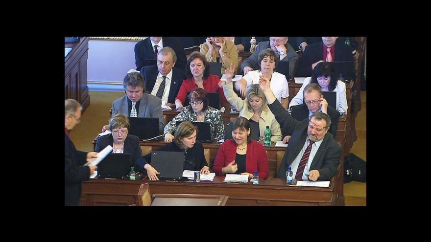 Video Dnešní sněmovní schvalování