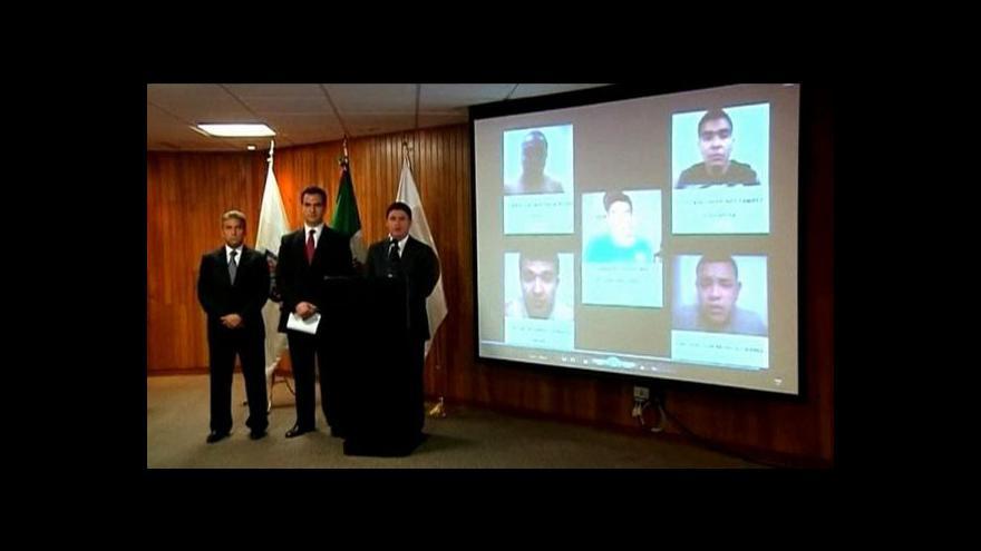 Video Mexická policie zatkla pět mužů podezřelých ze žhářského útoku