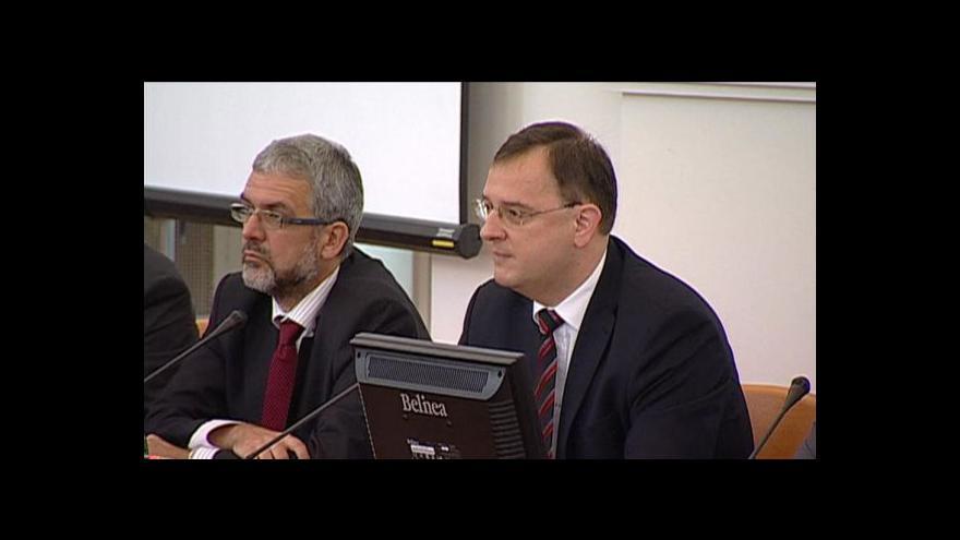 Video Úvodní projev Petra Nečase na jednání s velvyslanci