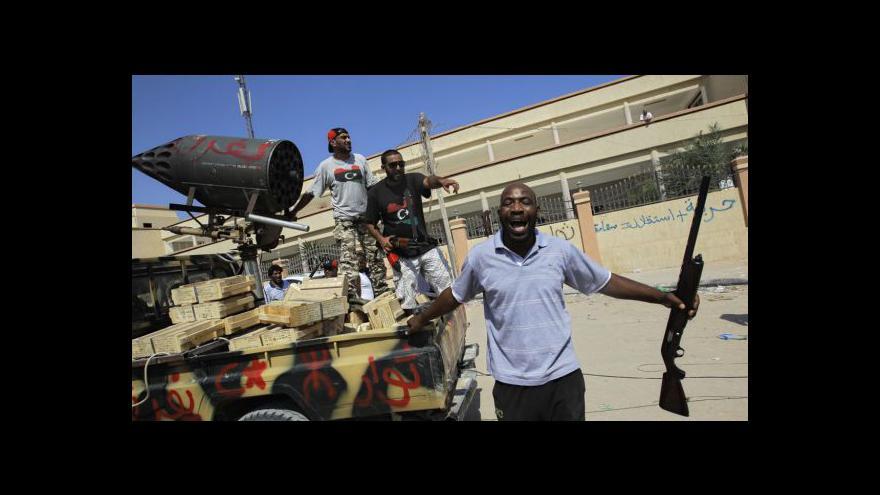 Video Události, komentáře k situaci v Tripolisu
