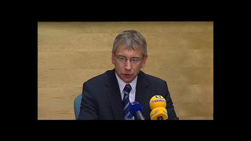 Video TK ministra práce a sociálních věcí Jaromíra Drábka