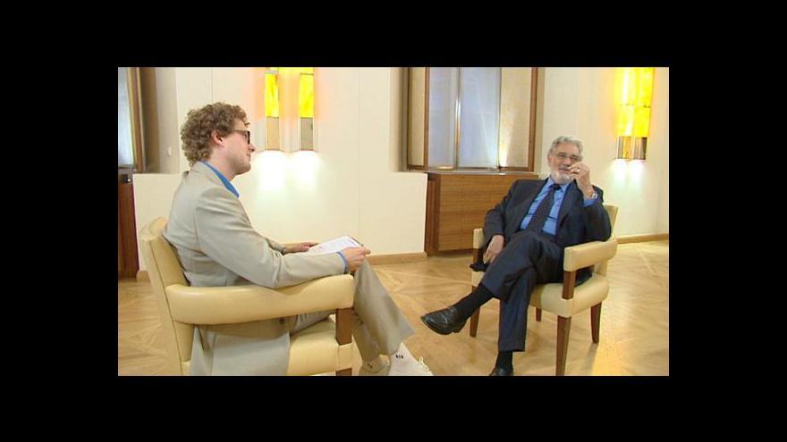 """Video """"Král opery"""" Plácido Domingo v Česku"""