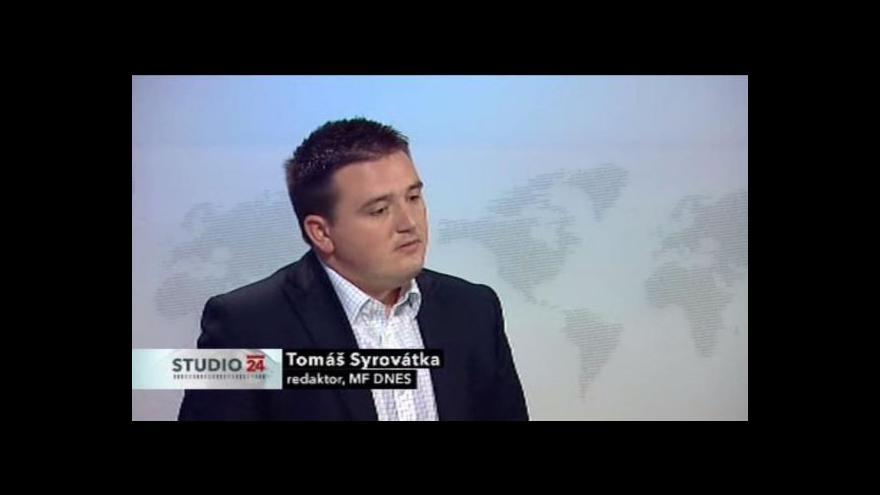 Video Redaktor Tomáš Syrovátka ve Studiu ČT24