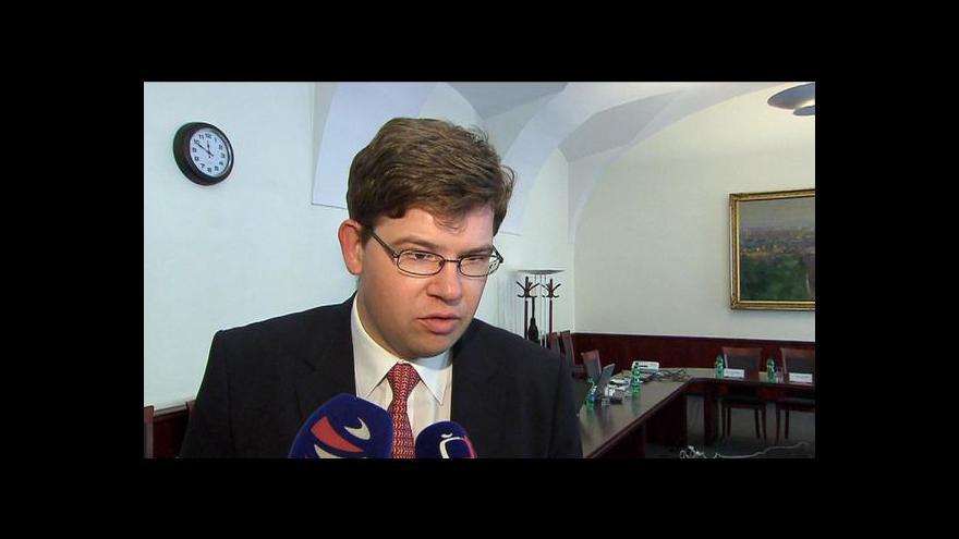 Video Ministr Jiří Pospíšil ve Studiu ČT24