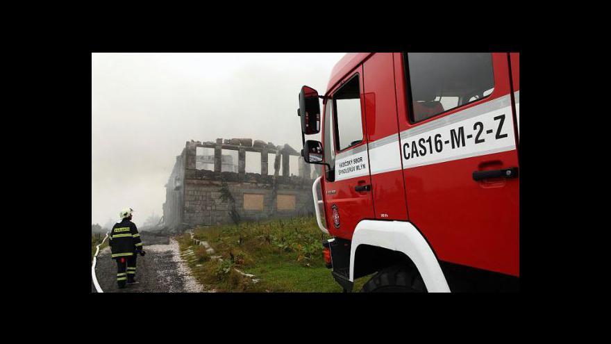 Video Studio ČT24 - Petrovu boudu zničil požár