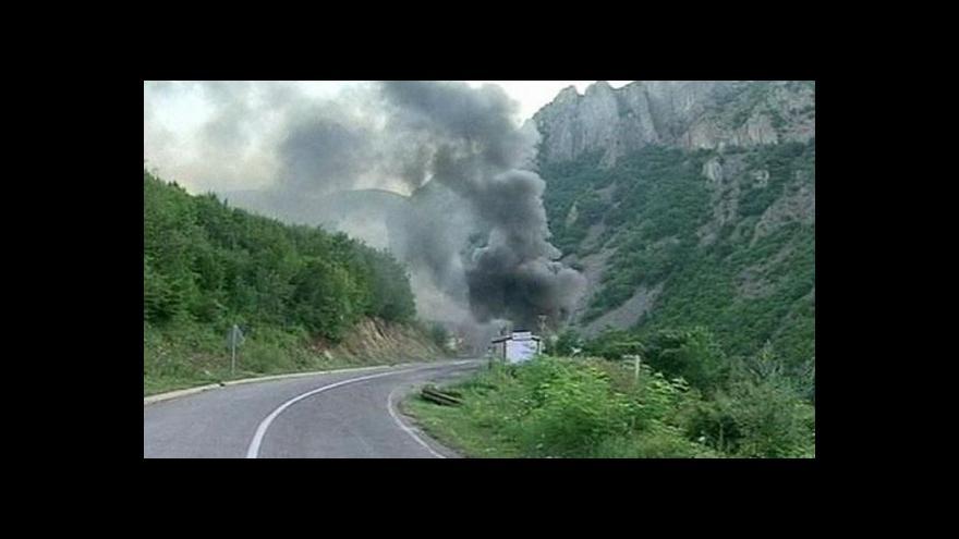 Video Studio ČT24 o střetech na kosovsko-srbské hranici