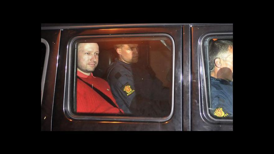 Video Norský vrah před soudem